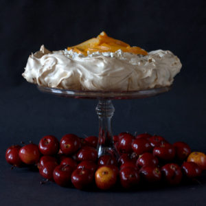 Christmas pudding and spiced orange pavlova