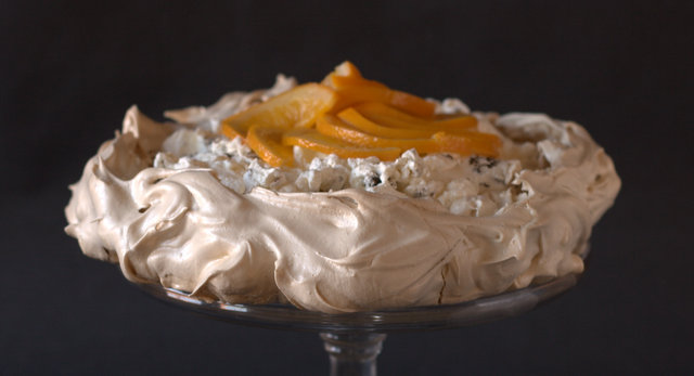 Christmas pudding and spiced orange pavlova