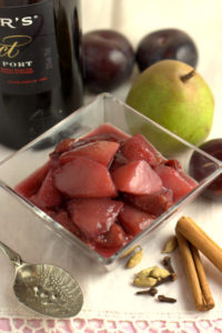 Spiced Pears & Plums in Port
