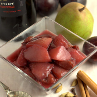 Recipe: Spiced Pears & Plums in Port