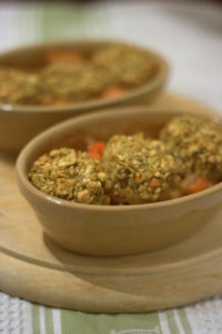 Turkey Pies with Stuffing Cobbler