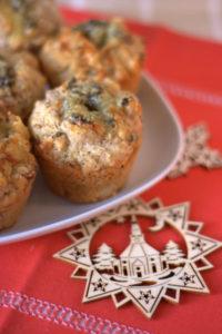 Turkey, stilton & cranberry Christmas brunch muffin