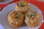 Turkey, stilton & cranberry Christmas brunch muffins plated