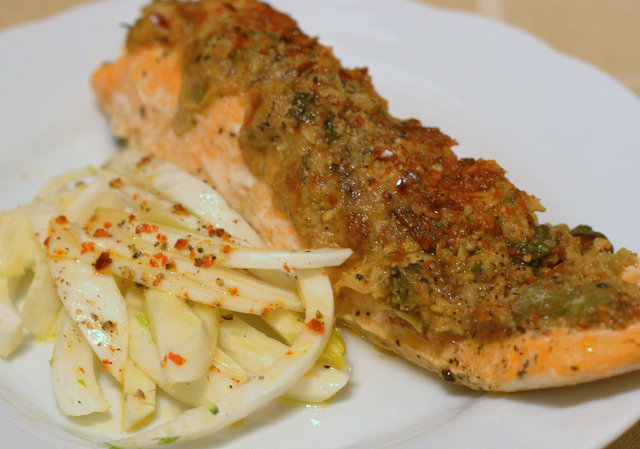 Baked Sea Trout with antipasti