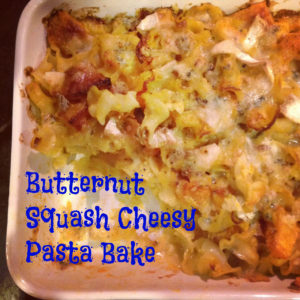 Butternut Squash Cheesy Pasta Bake