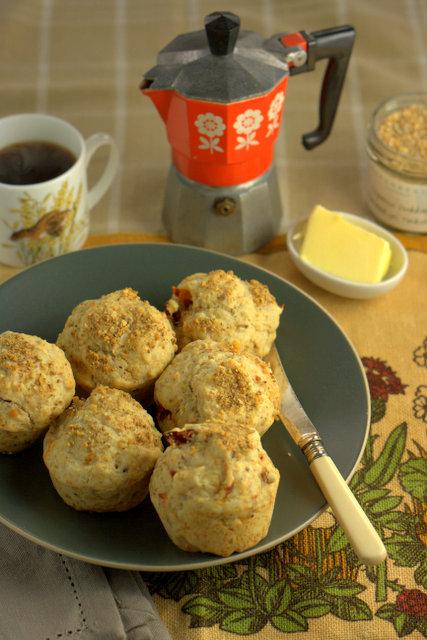 Dukkah & Sundried Tomato muffins