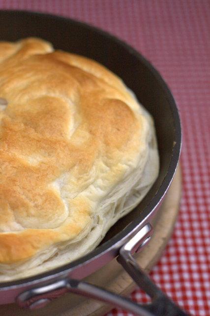 Full English Breakfast Tarte Tatin in Pan