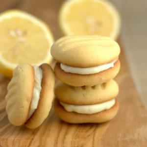 Filled Lemon Fork biscuits