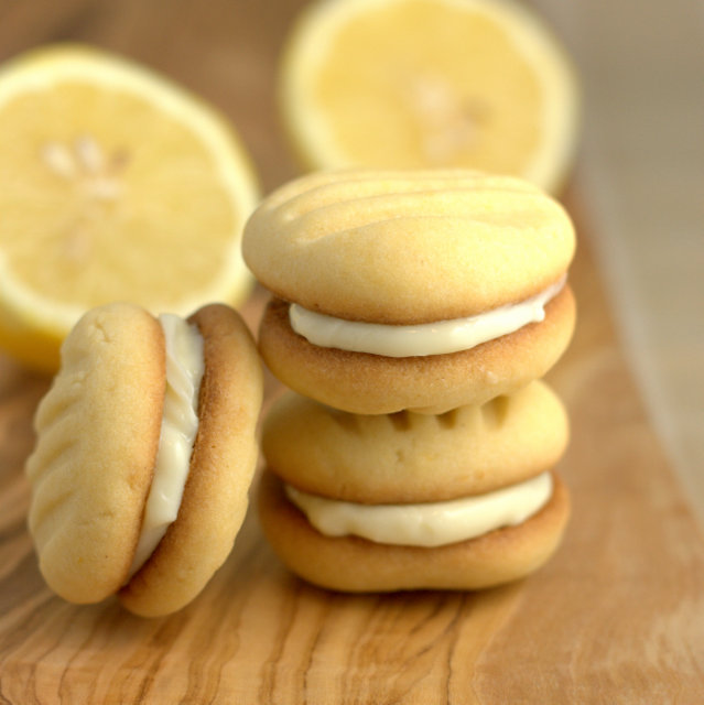 This recipe for easy to bake lemon biscuits filled with lemon cream cheese is delicious and sure to impress