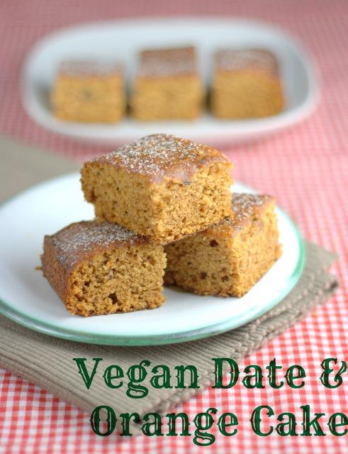 Vegan Date & Orange Cake