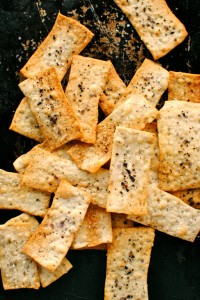 Crispy fennel seed flat breads for Credit Crunch Munch