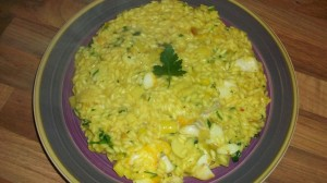 Nigellas Kedgeree Risotto for Credit Crunch Munch