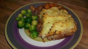 Shepherds pie with leftover roast lamb for Credit Crunch Munch