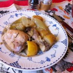 Chicken and Fennel one pot meal in the Pyrex Slow Cooker Casserole