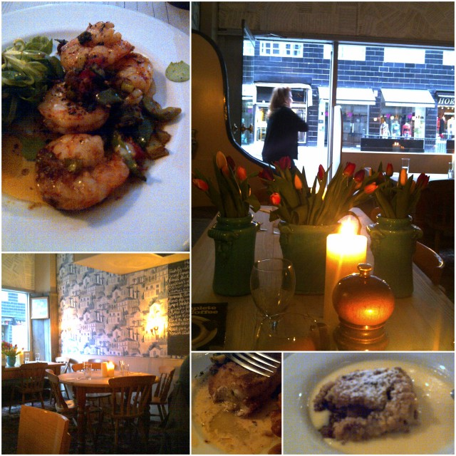 Dinner at Ffionas Kensington