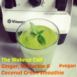 Recipe: The Wakeup Call – Ginger, Nectarine & Coconut Green Smoothie