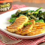 Luchito Honey Fried Halloumi and sauteed greens
