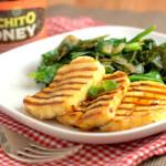 Luchito Honey Fried Halloumi and sauteed greens