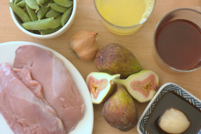 Red Wine Glazed Duck Breasts with Figs Ingredients