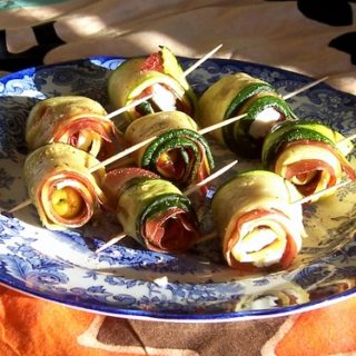 Roasted Courgette Rolls with the Judge Mandoline Food Slicer