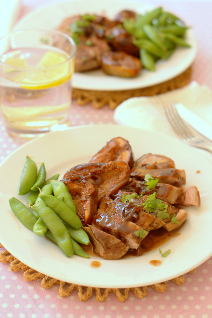 Weight Watchers Wine Glazed Duck Breasts with Figs
