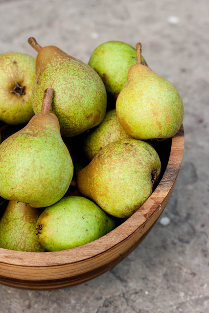 Bowl of windfall pears