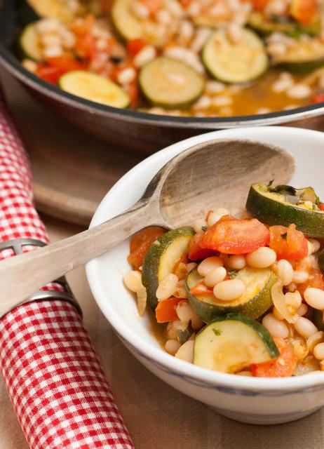 Haricot bean Ratatouille casserole