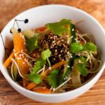 Rice Noodle Salad with Salsa Macha