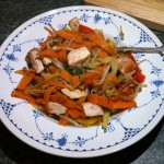 Recipe: Vegetable and Chicken Stir Fry – making a half or quarter portion