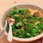 Kale Salad with Fat free mustard dressing