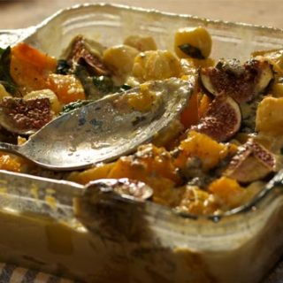 Blue Cheese, Butternut Squash Gnocchi Bake