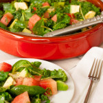 Kale Chard Watermelon and Avocado Salad_