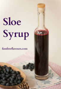 Sloe Syrup - Harvesting the Blackthorn