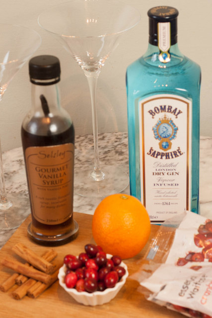 Bombay Sapphire Christmas Martini - ingredients