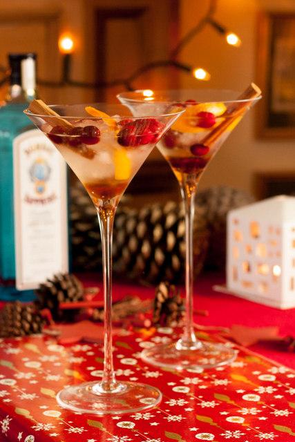 Bombay Sapphire Christmas Martini