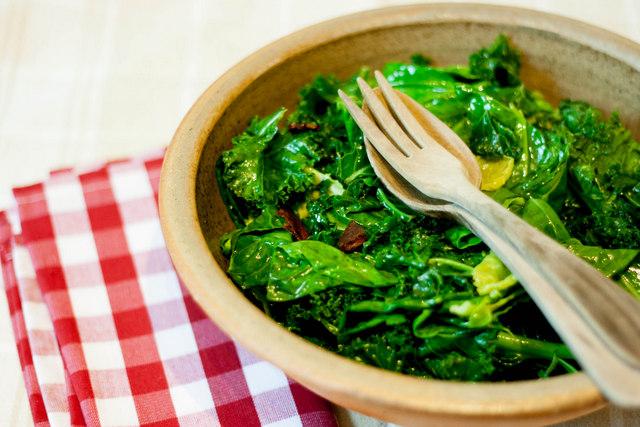 Greens and Chorizo