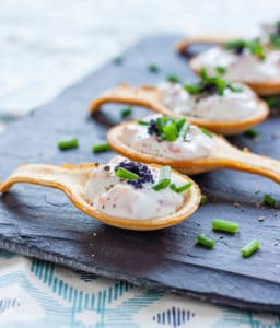 Simple and delicious smoked salmon canapés which will impress. Make in advance and assemble in minutes.