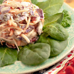 Recipe: Leftover Turkey Coleslaw with Tahini & Cranberry Sauce Dressing