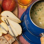 Recipe: English Stilton Fondue with Apples & Pears