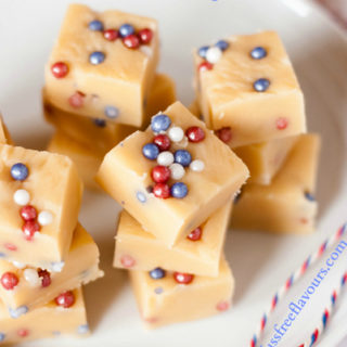 Red, White & Blue fudge - perfect for all patriotic occasions!