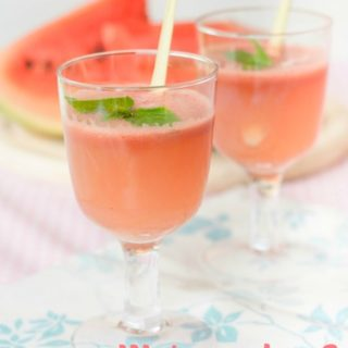 Watermelon and cucumber refresher