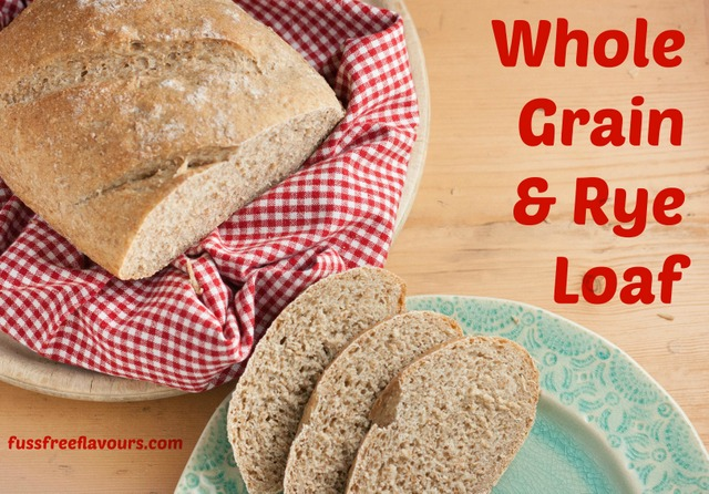 Whole Grain & Rye Loaf - Easily made in a silicone bread maker