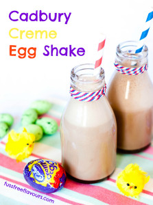 Delicious indulgent easy to make Cadbury Creme Egg Milkshakes - perfect for a treat this Easter