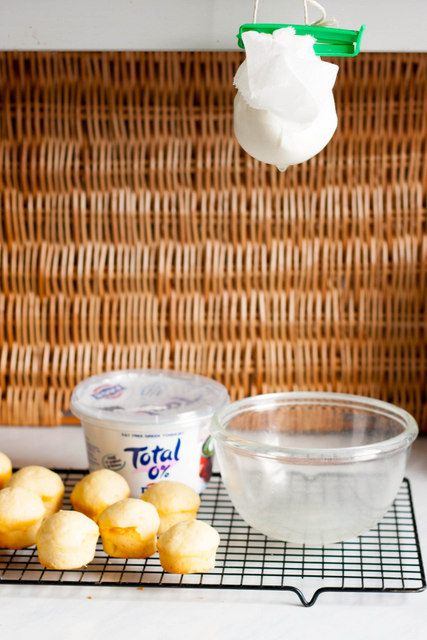 Making Total Greek Yoghurt Labneh