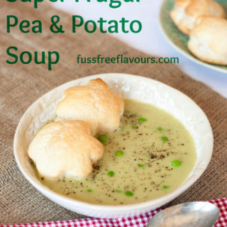 Recipe: Super Frugal Pea, Potato & Lemon Soup
