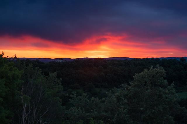 sunset at Agriturismo Poggio al tufo