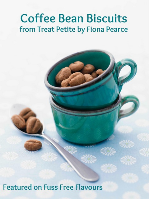 Mini Coffee Bean Biscuits - an easy recipe for a cute treat- perfect to serve to your guests with their morning (or afternoon) coffee | Fuss Free Flavours