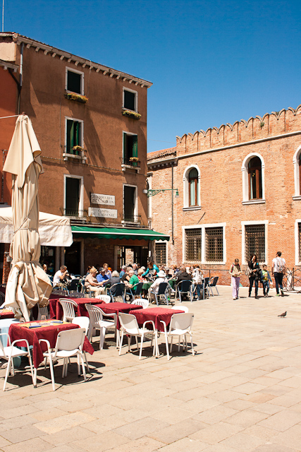 The square by the entrance to the Arsenal. Castello Quarter of Venice