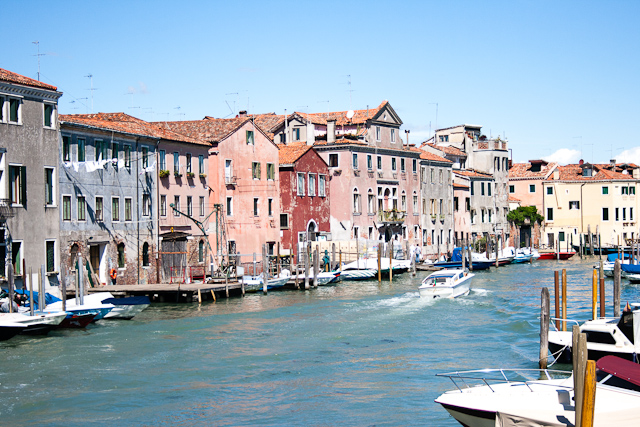 A canal in the Castello, with smaller unpretentious houses. Castello Quarter of Venice-2