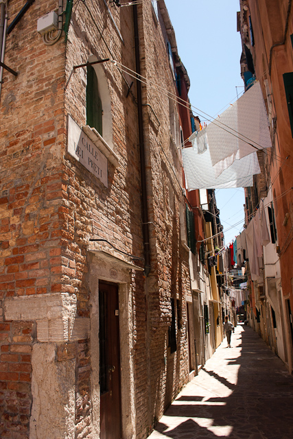 Narrow Streets Castello Quarter of Venice